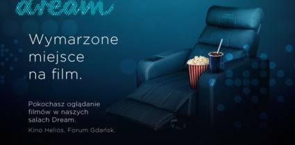 New premium offer by Helios cinema chain: Helios Dream - a dream place for a movie