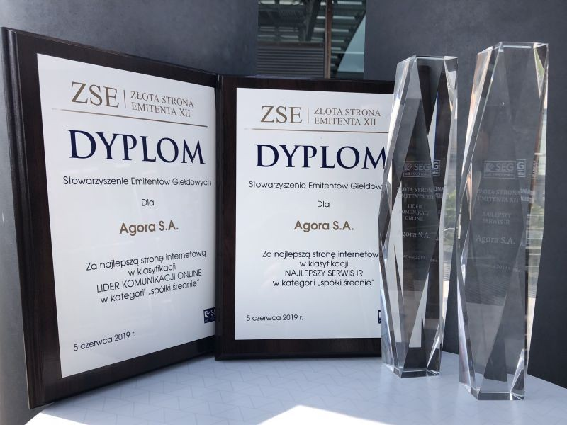 Agora once again awarded for 'Best IR Service' and 'Leader of Online Communications'